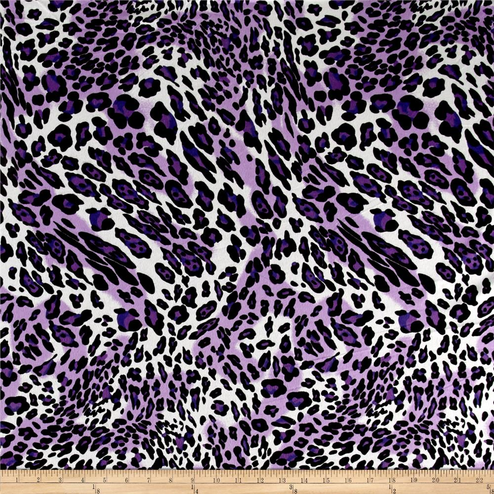 Prowl Flannel Animal Print Purple