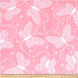 Shannon Minky Flowerly Cuddle Paris Pink