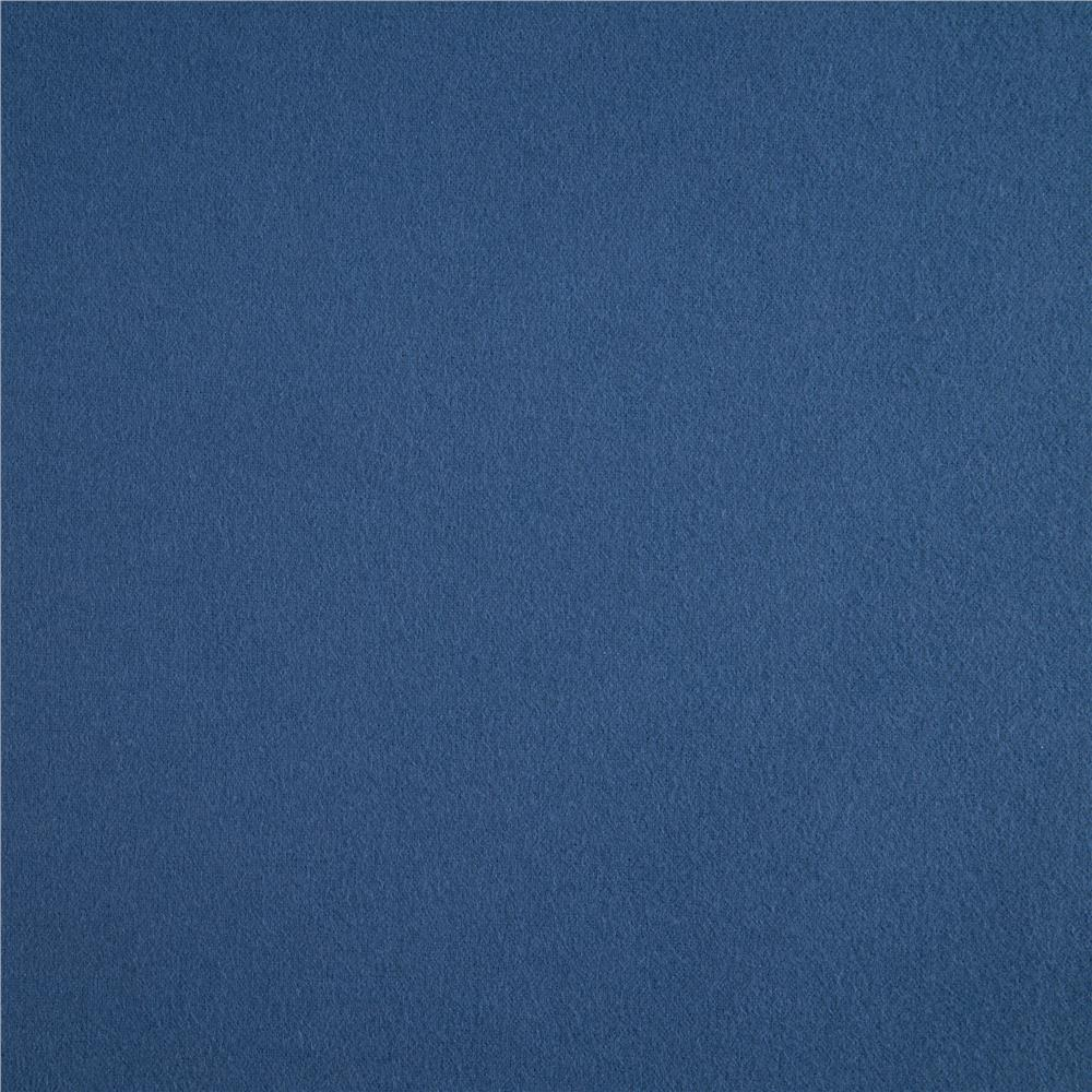 Kaufman Flannel Solid Denim Fabric By The Yard