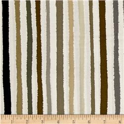 Shadows Paintbox Stripe Taupe/White