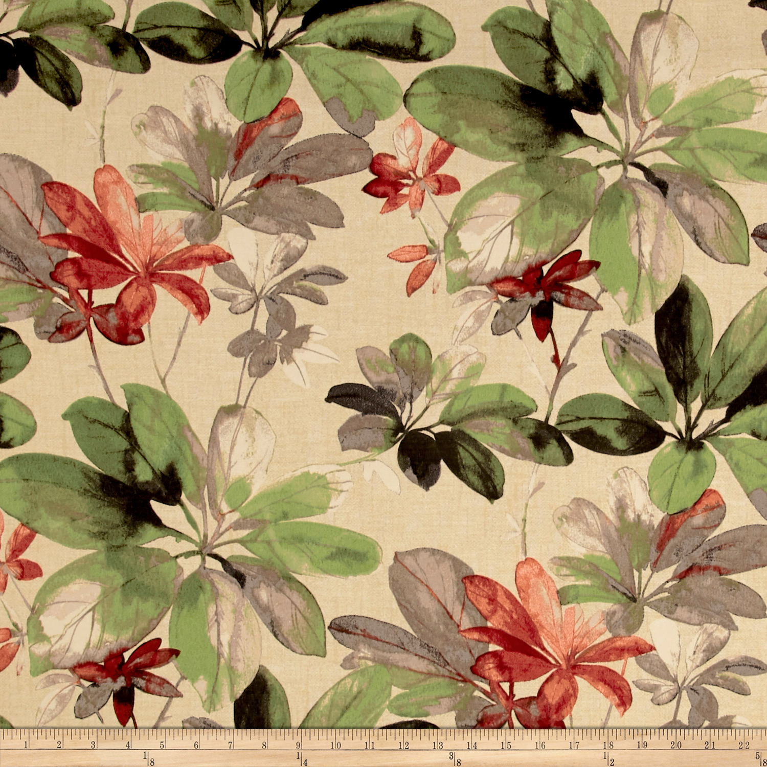 Bryant Indoor/Outdoor Meridian Flower Dove Fabric by Bryant in USA