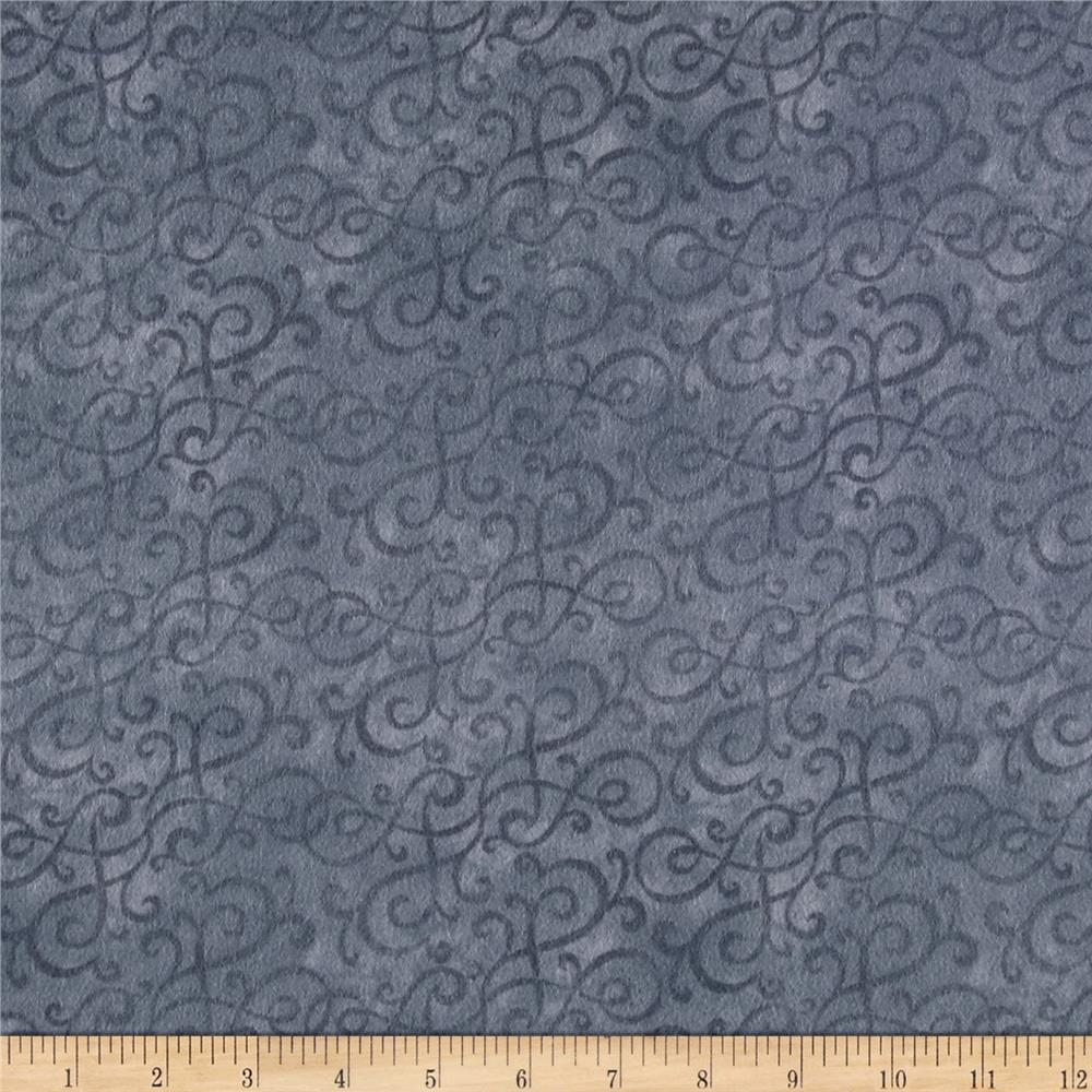 Flannel Scroll Gray