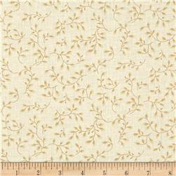 108'' Wide Quilt Backing Folio Vines Cream Fabric