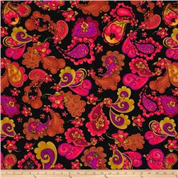Loralie Designs Gypsy Chique Paisley Posie Black