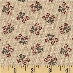 Townhouse Gardens Sprig Red/Brown