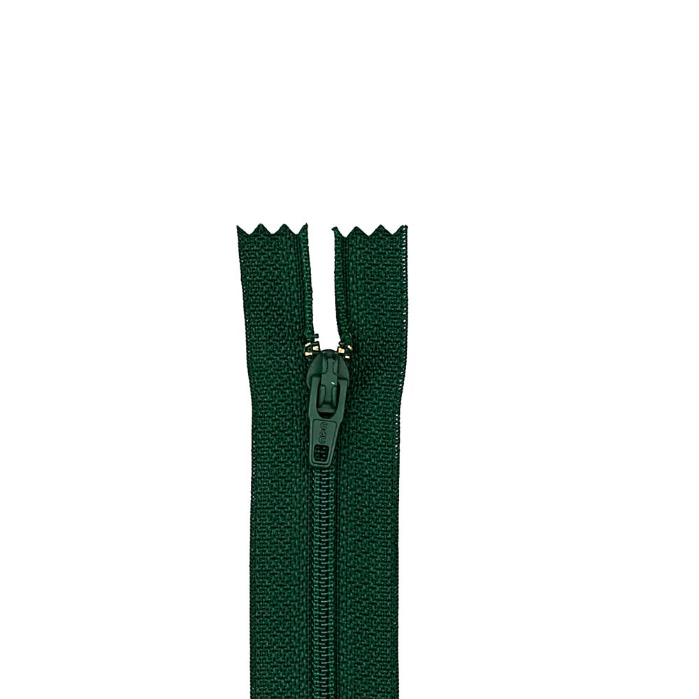 "Coats & Clark Polyester All Purpose Zipper 14"" Forest Green"