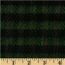 Boucle Tweed Coating Black/Hunter Green