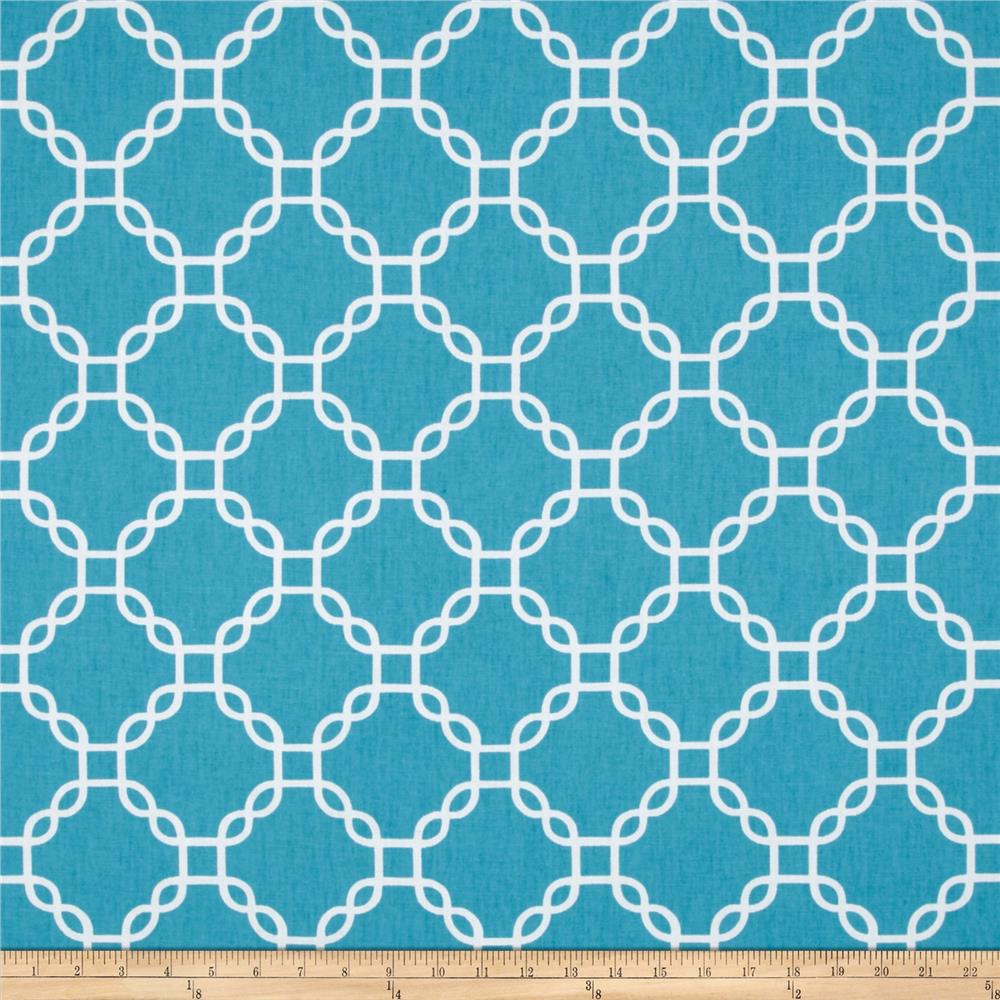 Golding by P Kaufmann Criss Cross Turquoise