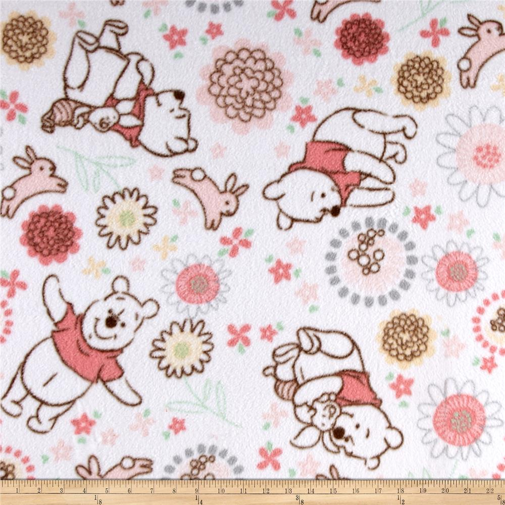 Disney Fleece Winnie the Pooh White Fabric