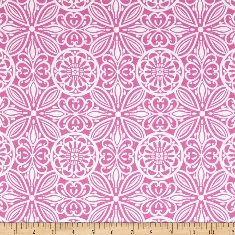 Modern Mixers Large Medallion Allover Pink