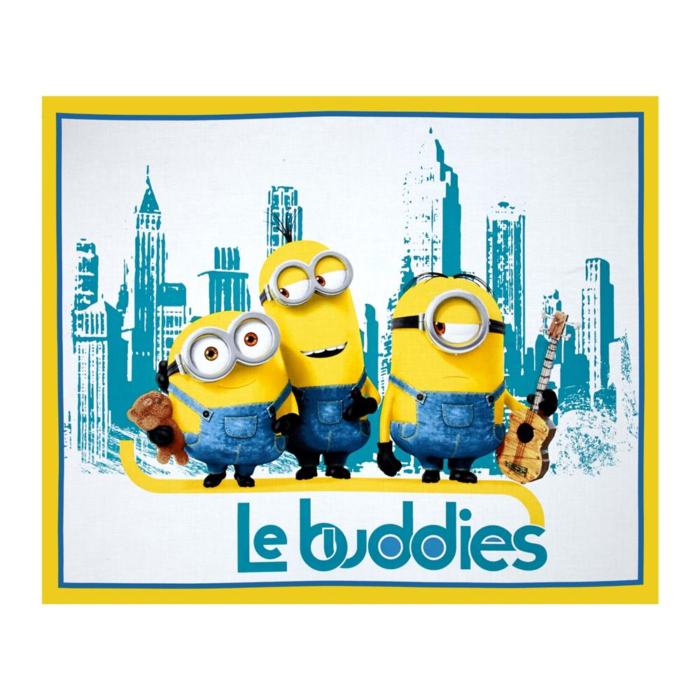 Minions Le Buddies 36 In. Panel Turquoise/Yellow
