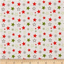 Riley Blake A Merry Little Christmas Merry Stars White