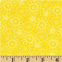 Wild Flower Flower Toile Yellow