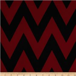 Fashionista Jersey Knit Medium Chevron BlaclkBurgundy