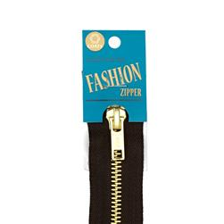 Coats & Clark Fashion Brass Separating Zipper 18