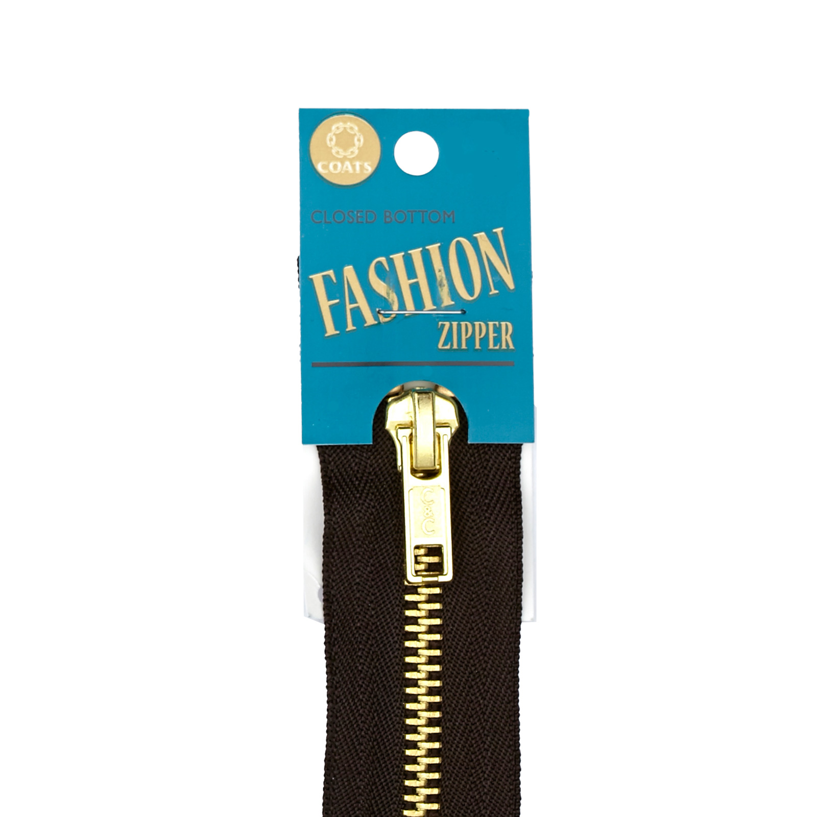 Coats & Clark Fashion Brass Separating Zipper 18''
