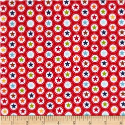 Riley Blake Play Ball Flannel Star Red