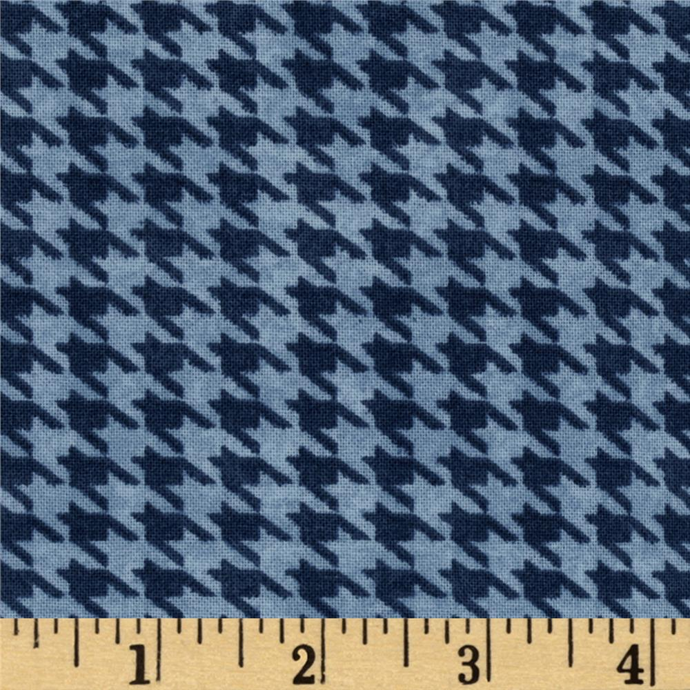 Alpine Woods Alpine Houndstooth Blue