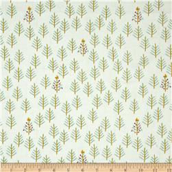 Cotton + Steel Tinsel Brushed Cotton Twill Tree Cream