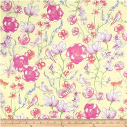 Dainty Blooms Large Allover Floral Buttercup/Pearl