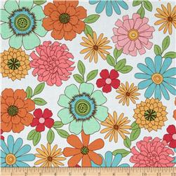 Riley Blake Flower Patch Main White