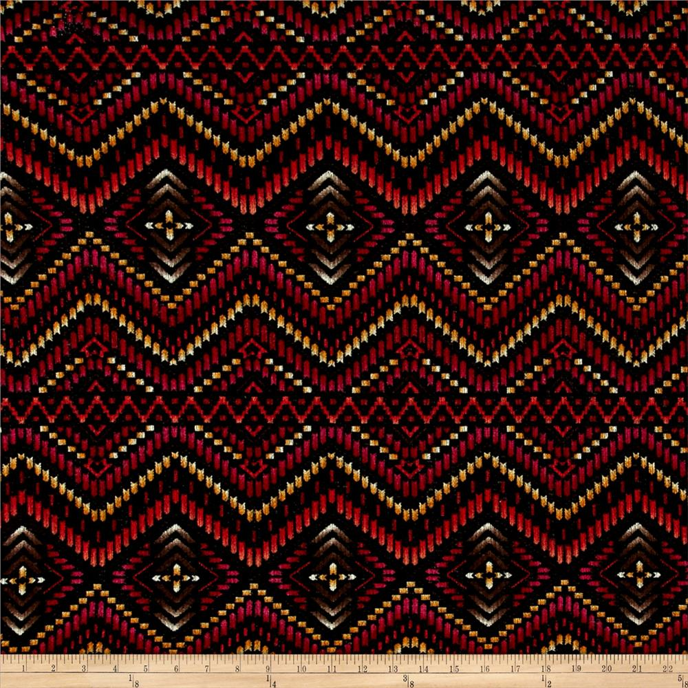 Novelty Sweater Knit Aztec Fire Fabric By The Yard
