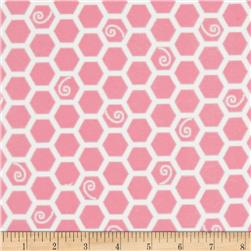 Kimberbell Little One Flannel Too! Flannel Honeycomb Pink