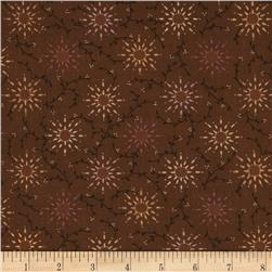108'' Quilt Backing Pairie Vine Brown Fabric