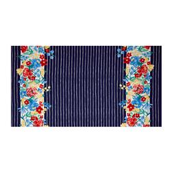 Michael Miller Meet Me In The Meadow Blooming Double Border Navy