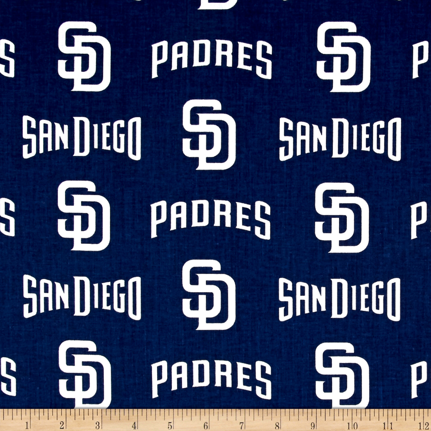 San Diego Padres Cotton Broadcloth Navy Fabric 0529776