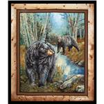 Wild Wings Reluctant Companion Bears Wall Panel Black