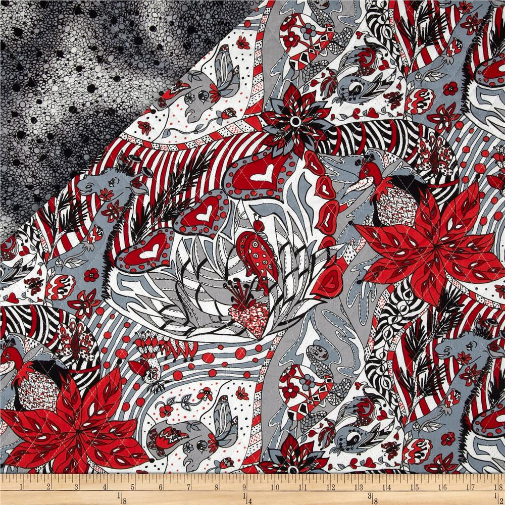 Imagine This! Double Sided Quilted Black/White/Red - Discount ... : double faced quilt fabric - Adamdwight.com