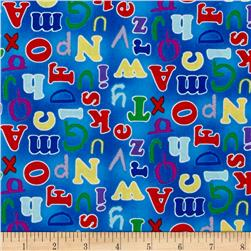 Alphabet Friends Letters Blue