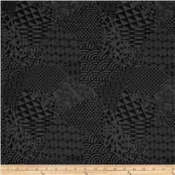 Onyx Jacquard Knit Geometric Black/Grey