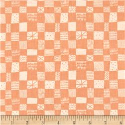 Cotton + Steel Printshop Grid Peach