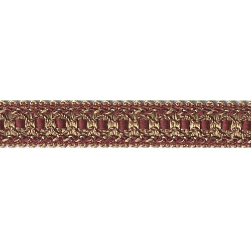 Deco 1'' Gimp Braid Tape Rouge/Gold