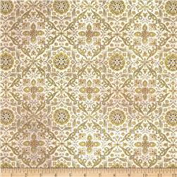 Tim Holtz Eclectic Elements Wall Flower Tiled Green