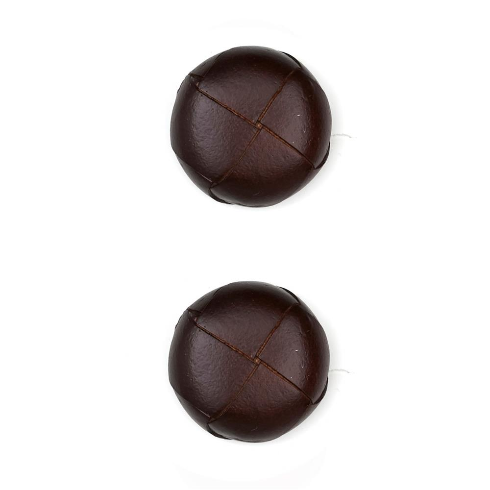 Dill Buttons 7/8'' Genuine Brown Leather Button