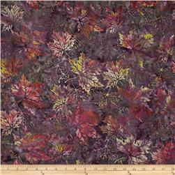Bali Batiks Maple Leaves Zinfandel