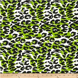 Poly Lycra Jersey Knit Swimwear Capset Leopard Green/Black