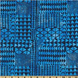 Bali Batik Triangles Blueberry