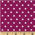 Aunt Polly's Flannel Small Polka Dots Wine/White