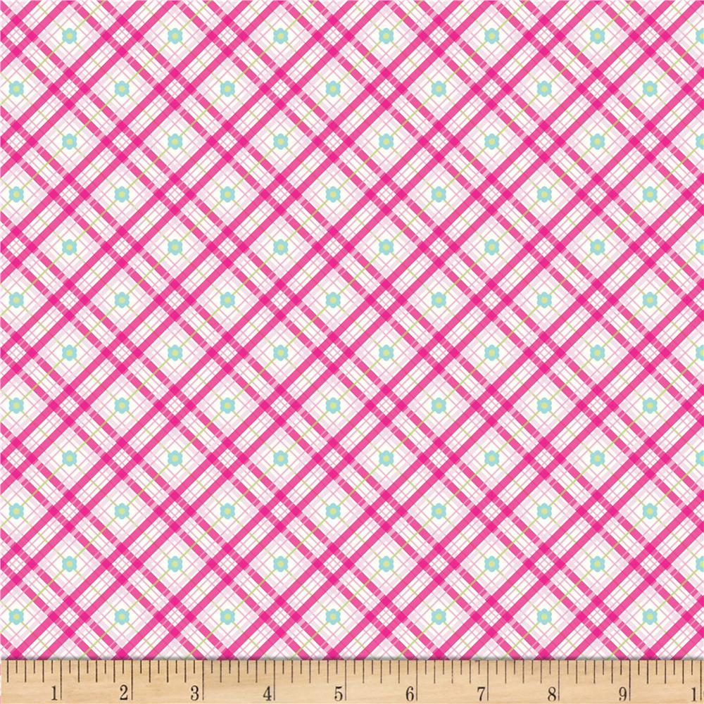 Riley Blake Sweet Home Plaid Pink