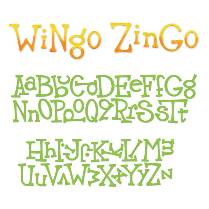 Sizzix Sizzlits Decorative Strip Alphabet Die Wingo Zingo