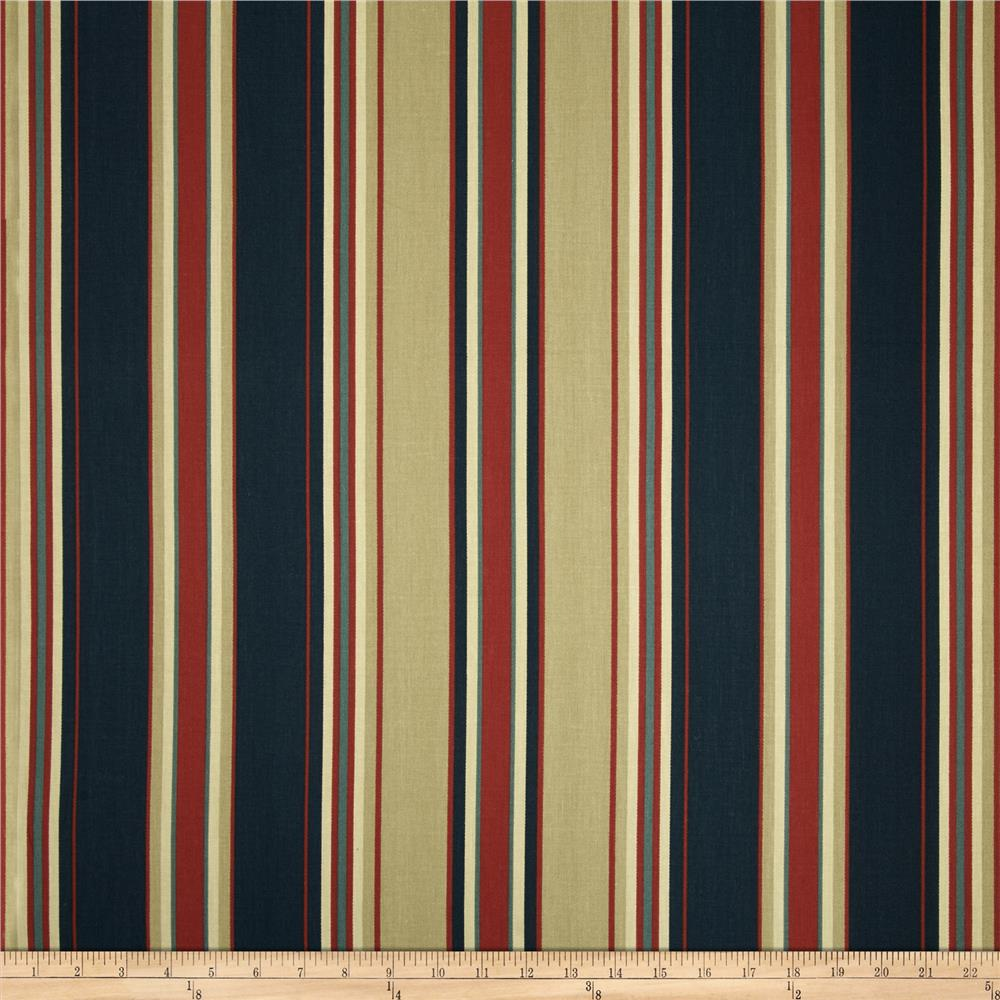 Swavelle/Mill Creek Tottenham Stripe Twill Royale Navy