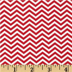 Moda Surrounded By Love Chevron Red/White