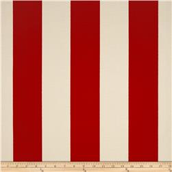 Premier Prints Indoor/Outdoor Vertical Stripe American Red Fabric