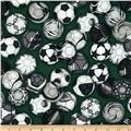 Sports Life 3 Soccer Balls Green Grass