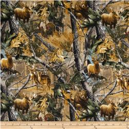 Realtree Flannel Forest Animals Multi Fabric