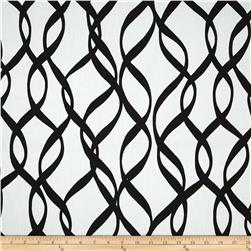 Duralee Streamers Twill Black/White Fabric
